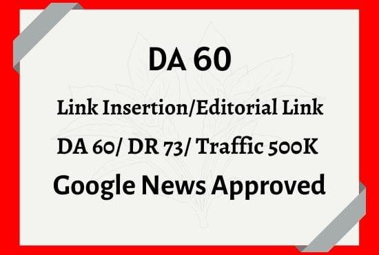 link insertion niche edit on google news site backlinks