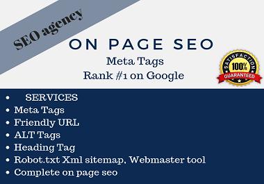 do onpage seo write meta tags, tilte, description, ...