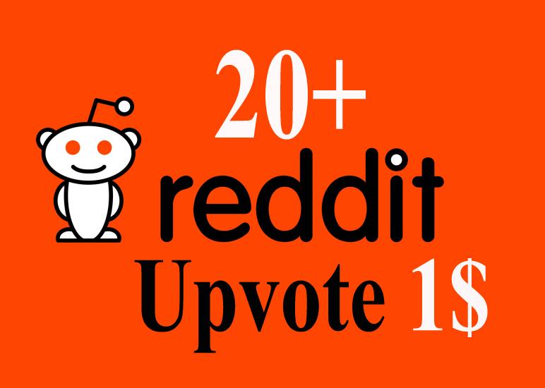 20 Reddit up vote from 100 Unique account