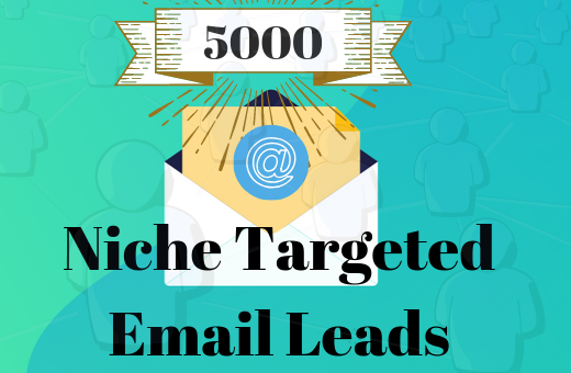 5000 Niche Targeted Email Leads For your business