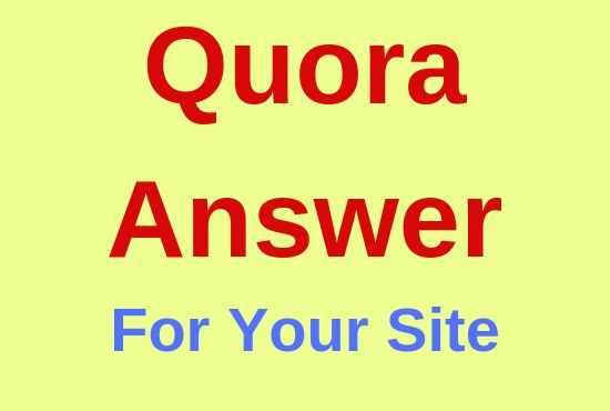 Promote your site with 10 High Quality Quora Answer
