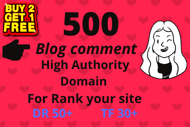 Niche Targeted 500 Blogcoments for boost your rank 1st on Google