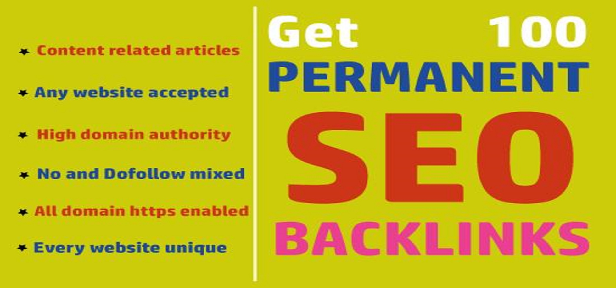 I will build high da 100 seo backlinks for improve google ranking