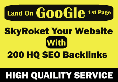SkyRoket Your Website With 200 HQ Manually SEO Backlinks On Unique Domain