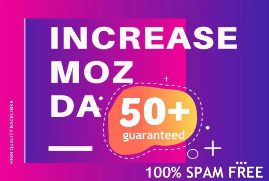 I will increase DA DR and TF of your domain 50+