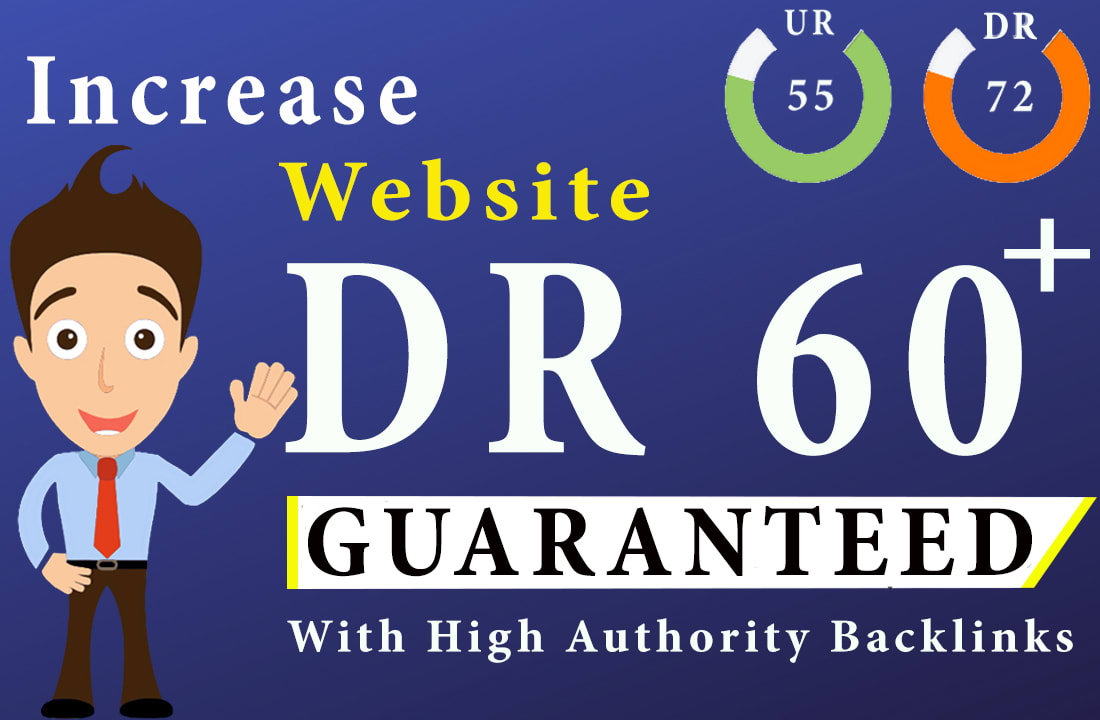 I will increase domain rating DR 40 plus ahrefs domain authority da tf