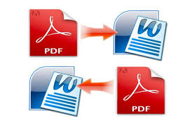 I can do convert pdf to word or word to pdf file