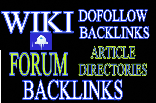 4000 backlinks mix of dofollow,  wiki,  forum and article directories