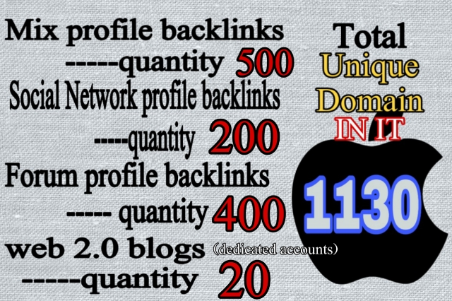3680+ Backlink from Web2.0, Forum Profile, social network links to increase your google rankings
