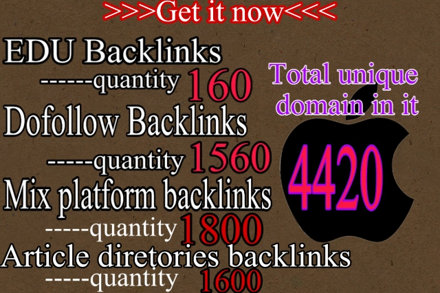 5100 plus seo Dofollow, . EDU,  Article directories and Mix platforms backlinks For ranking