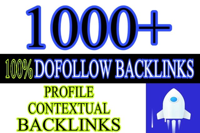 1000+ dofollow profiles contextual backlinks to increase your google rankings