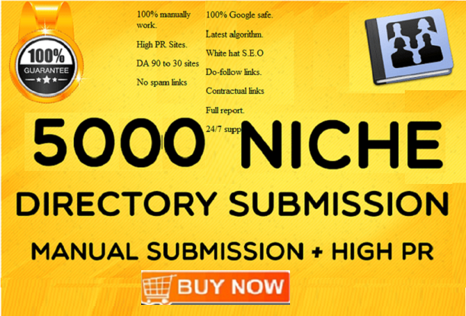 Add 5000 Directory Submission Backlinks From PR3 To PR9 With DA-PA-TF 100-40