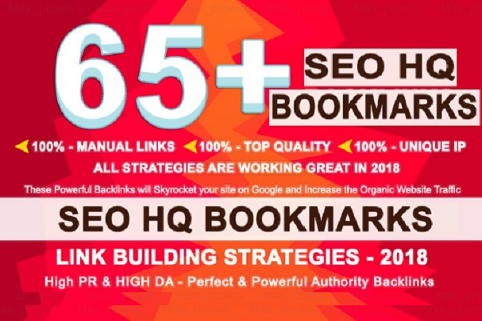 Add 65 Social Bookmarks Backlinks From PR10 To PR6 sites With DA-PA-TF 100_60