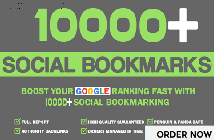 Add 10,000+ HQ Social Bookmarks Backlinks For Boost A...