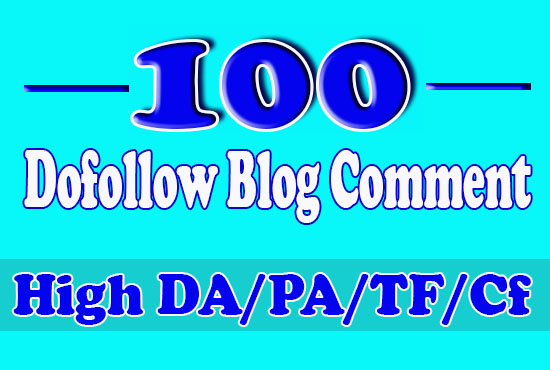 I will do 100 high authority dofollow blog comments, seo backlinks