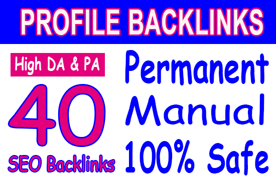Manually done - 40 SEO Backlinks - DA 50+ 100 - best SEO HELP for fast ranking