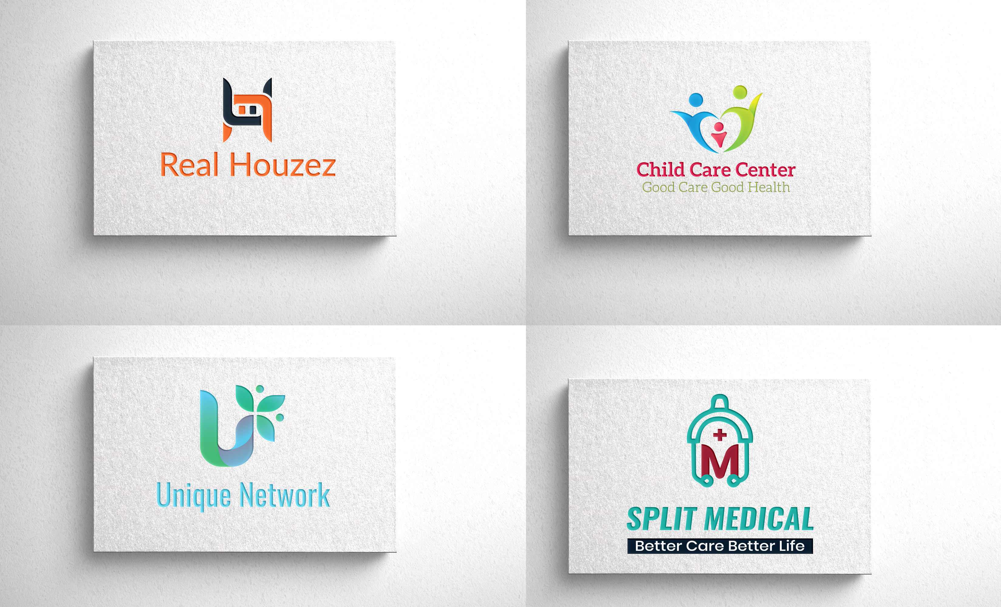 I will design 2 concept minimalist,  real estate,  travel,  restaurant logo for your