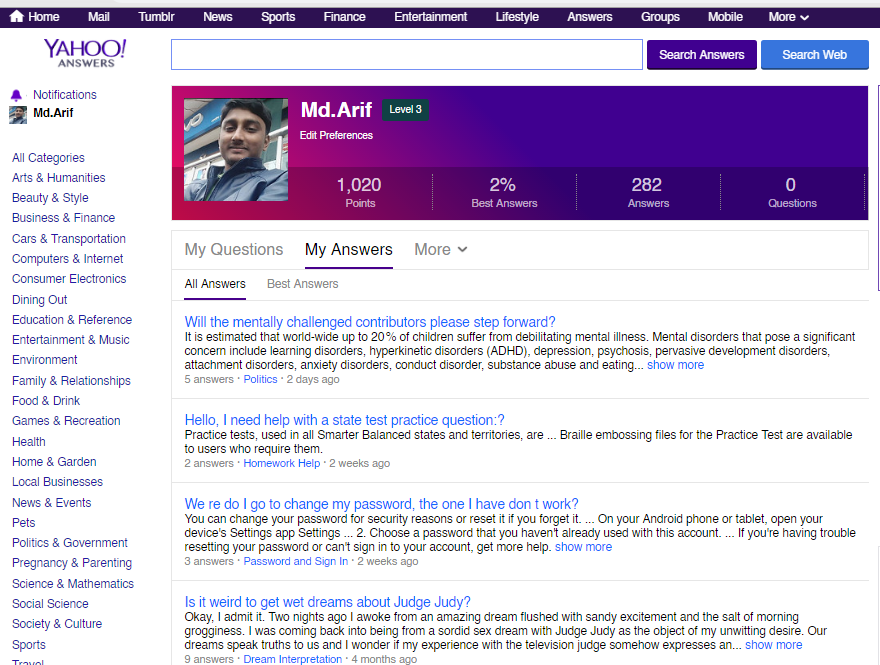 Guaranteed 10 Yahoo Answer targeted traffic with Promote Your WEBSITE