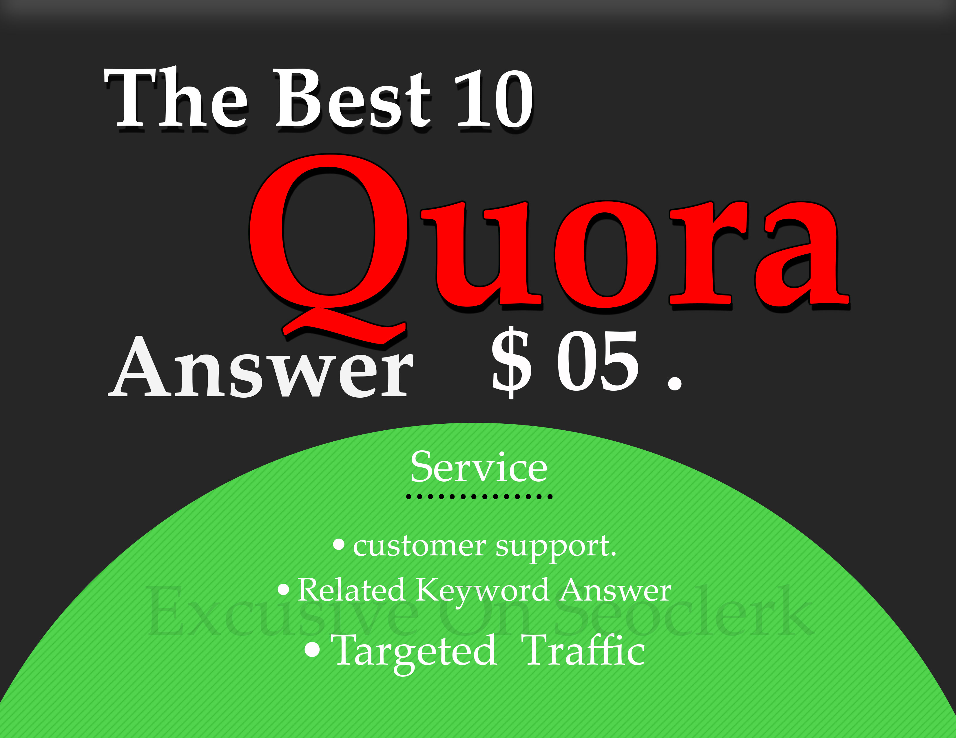 DO 10 HG Quora Answer with promote Your Website/Business + upvote