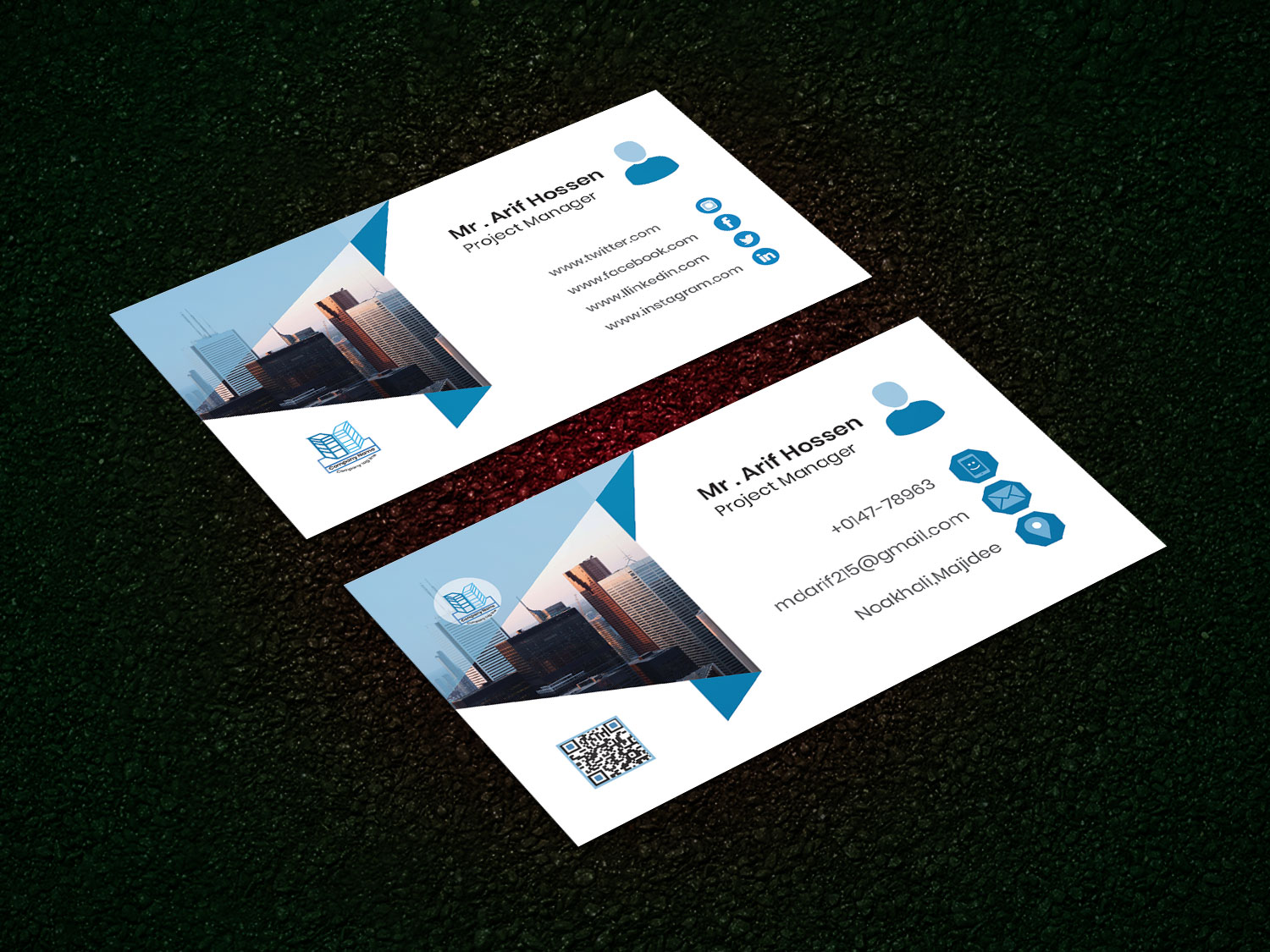 Creative Business card design for you with in 24 Hrs
