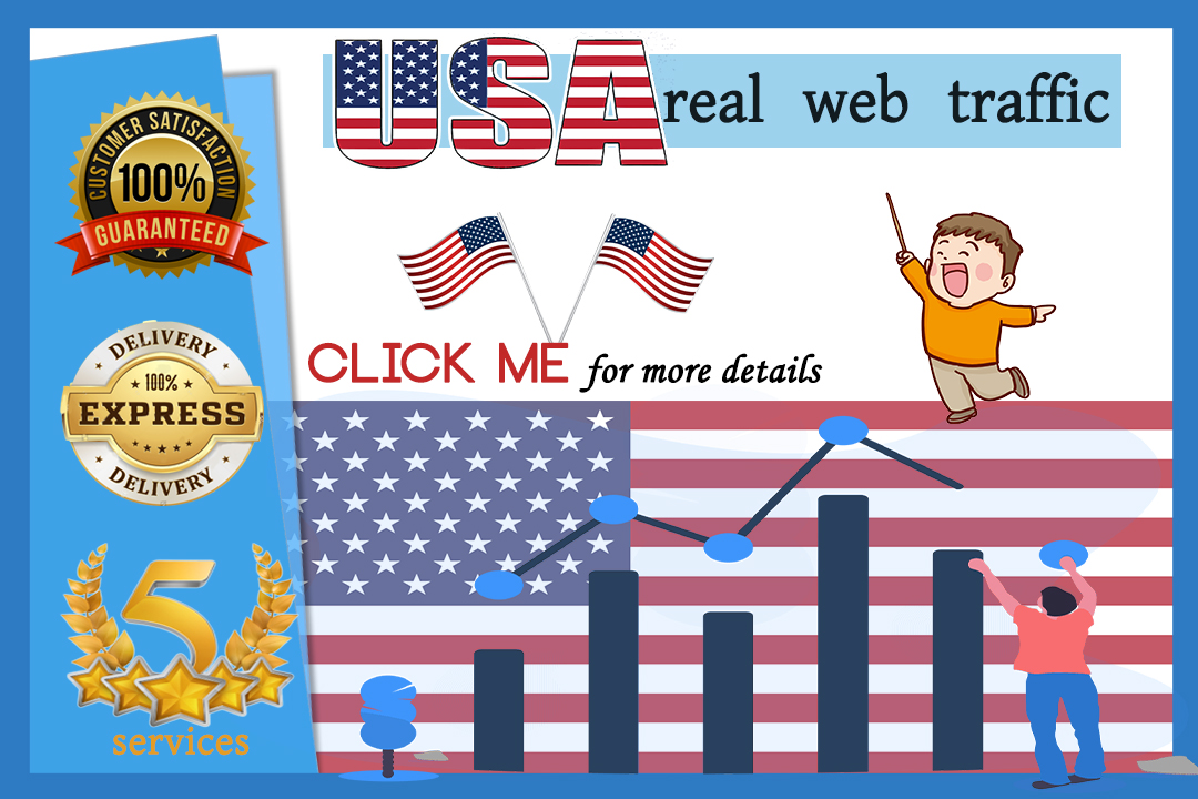 i will send USA REAL TRAFFIC for your website