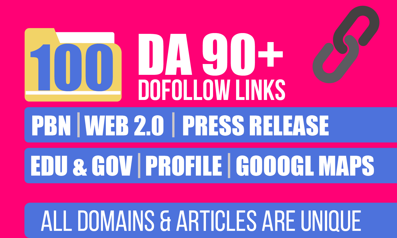 Great Offer For 1 Week,  Powerfully 100,  PBN,  Web 2,  Press Release,  EDU,  Profile & Google Maps Link