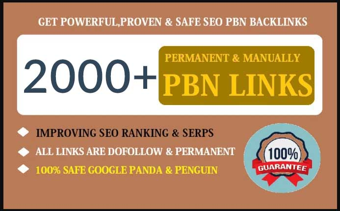 2000+ dofollow pbn SEO backlinks for google ranking