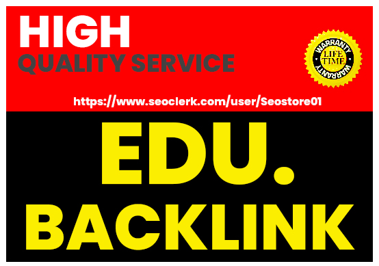 Build HQ 500+ EDU Backlinks First Rank On Google Page 1 For Website SEO