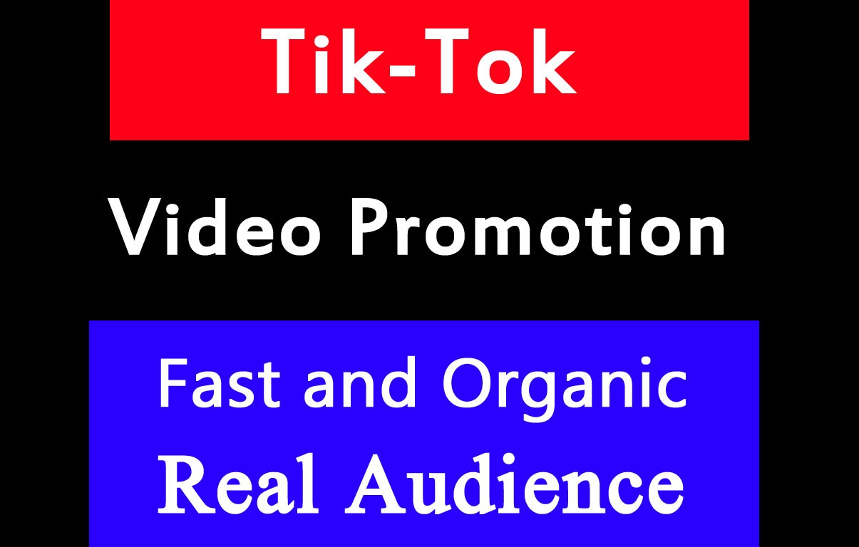 Organic TikTok Video And Account Promotion within 12 Hours