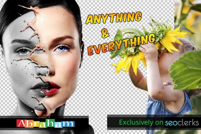 Remove Background, Photoshop Editing, image Resize,...