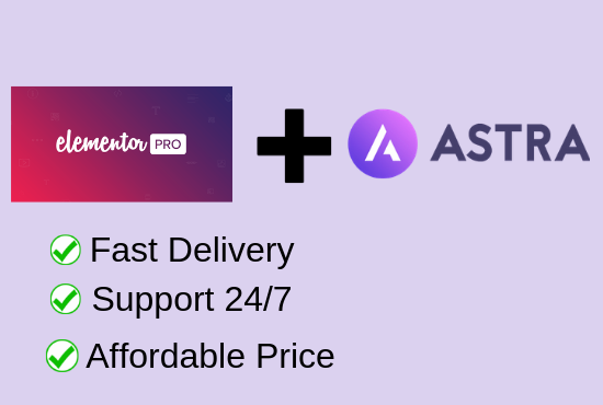 Install Astra Pro,Elementor Pro with Lifetime Agency Bundle