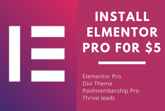 Install Elementor pro plugin with key on your website