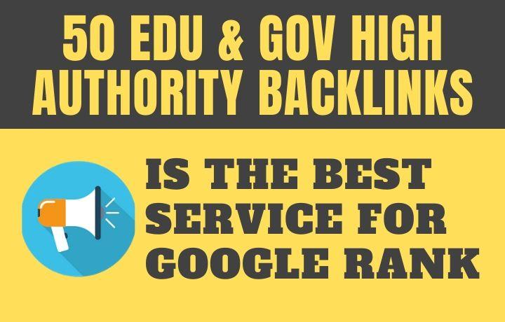 50 EDU and GOV Backlinks for SEO link building service