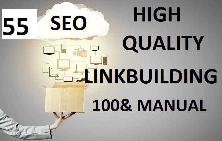 55 High quality SEO Linkbuilding
