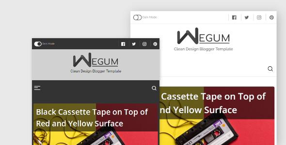 Wegum Responsive Blogger Theme/Template