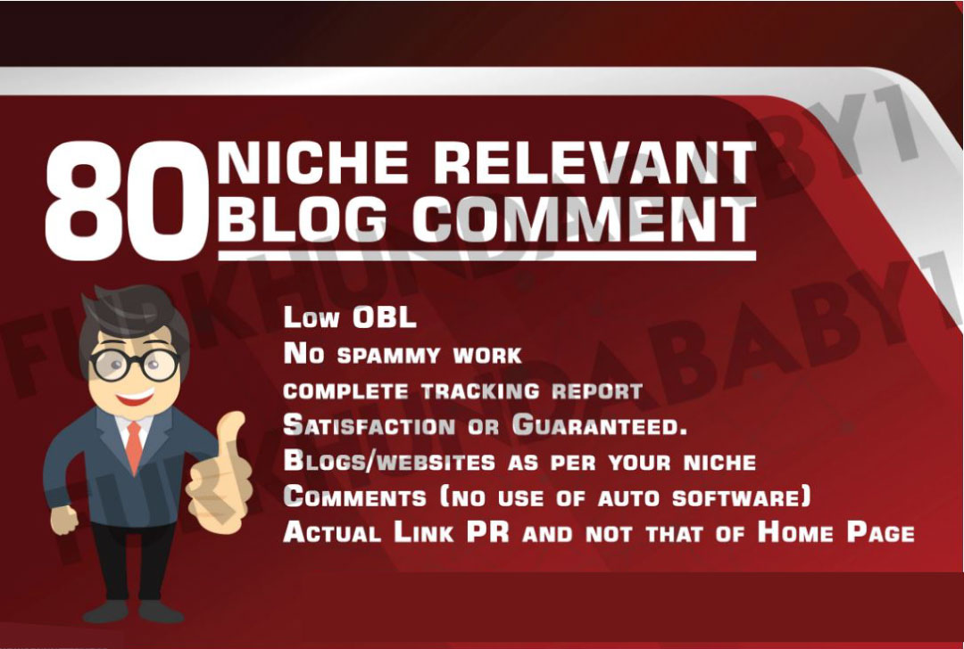 80 Niche Relevant Manual Blog Comments