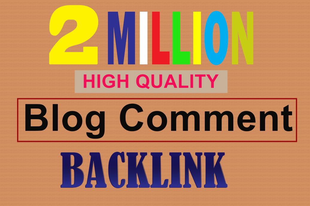 Create 2 million live check dofollow blog comment backlink