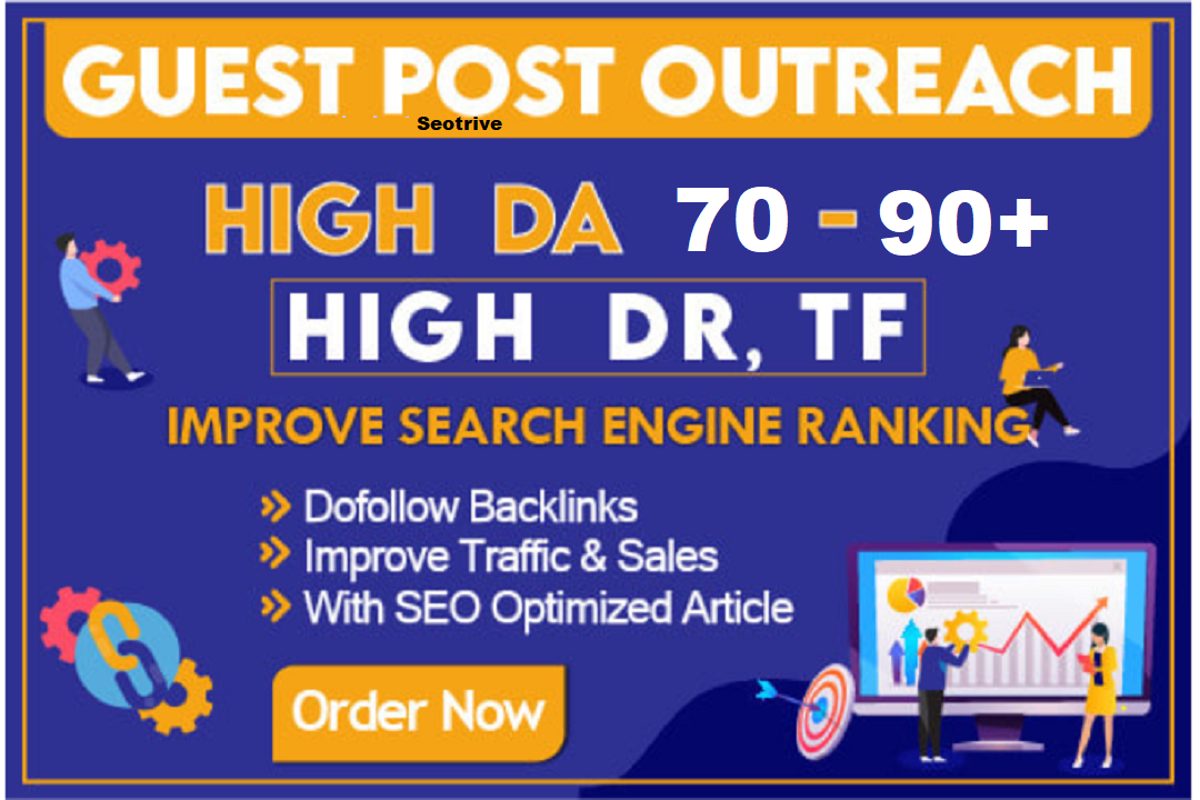 I will Write & Guest Post On 5 Top High Authority Websites DA70-90+ dofollow backlink