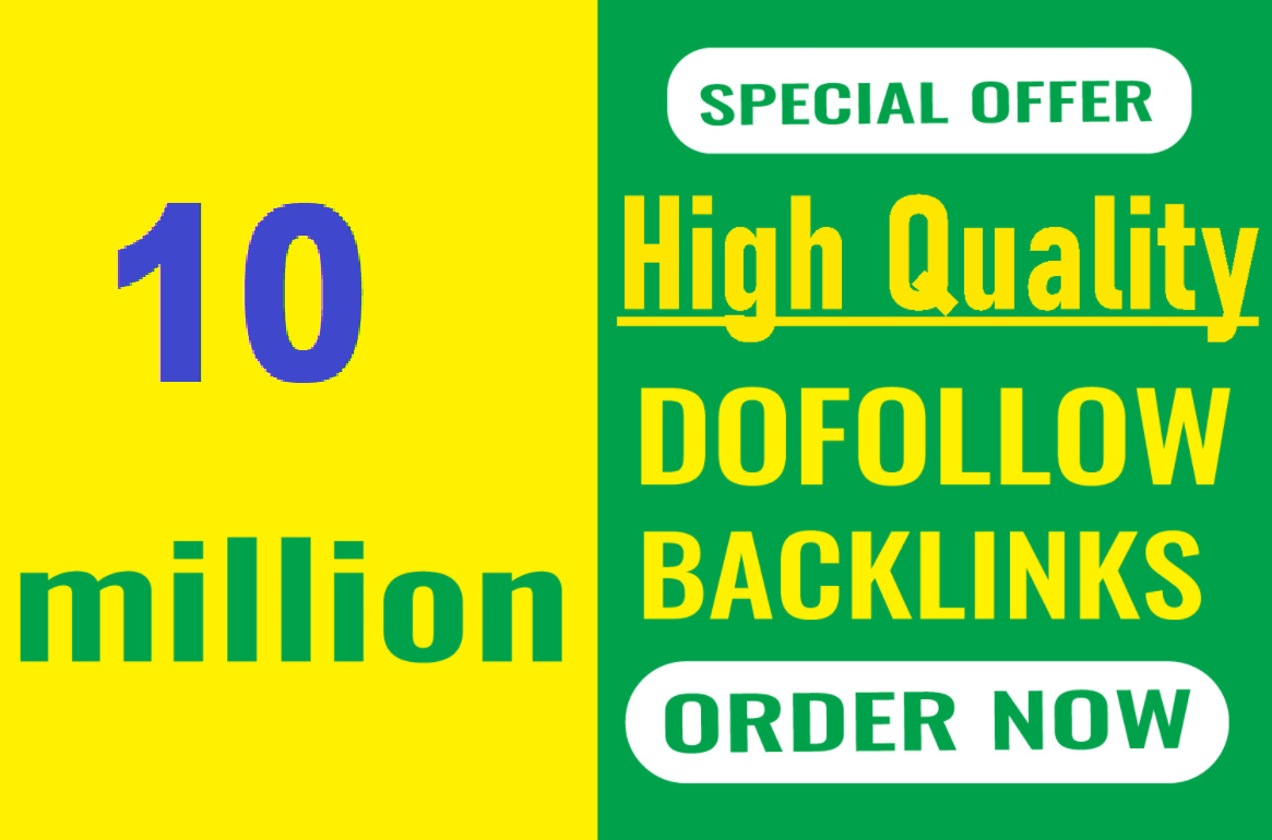 Top Most powerful 10 million dofollow SEO backlinks for the faster index on google