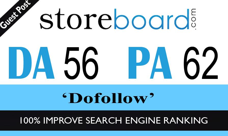 I can publish Dofollow guest post on storeboard. com da56+