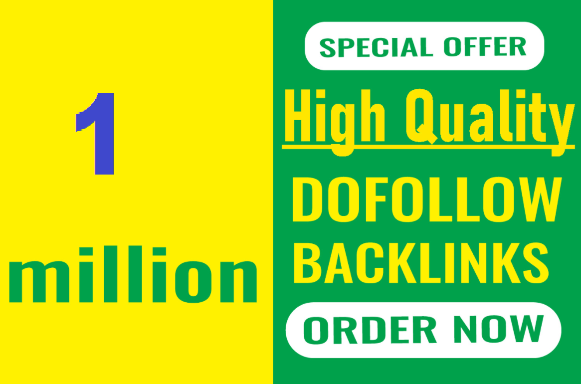 1 Million GSA Ser dofollow SEO backlinks for the faster index on google