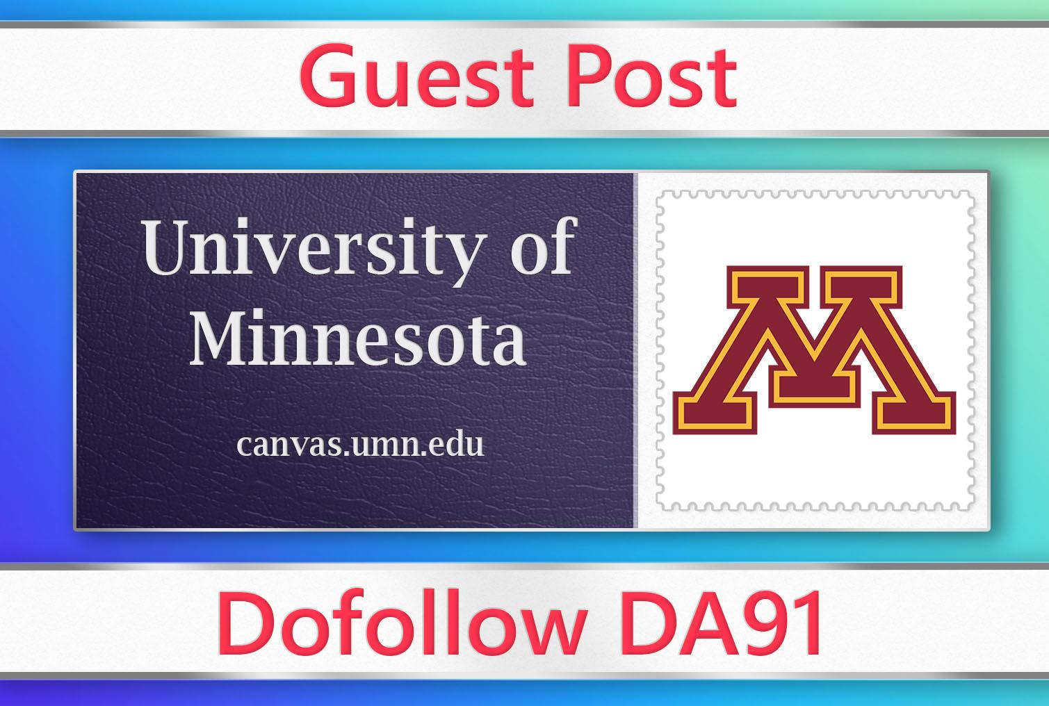 I will do permanent guest post on umn. edu DA 91