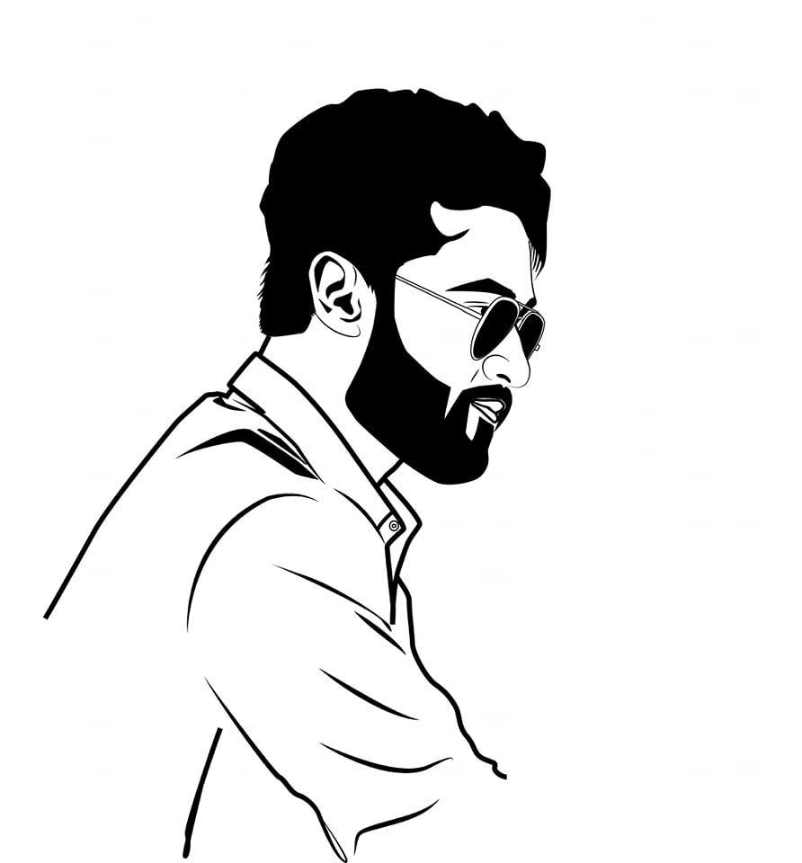 I will draw flat line vector avatar of you within 24h