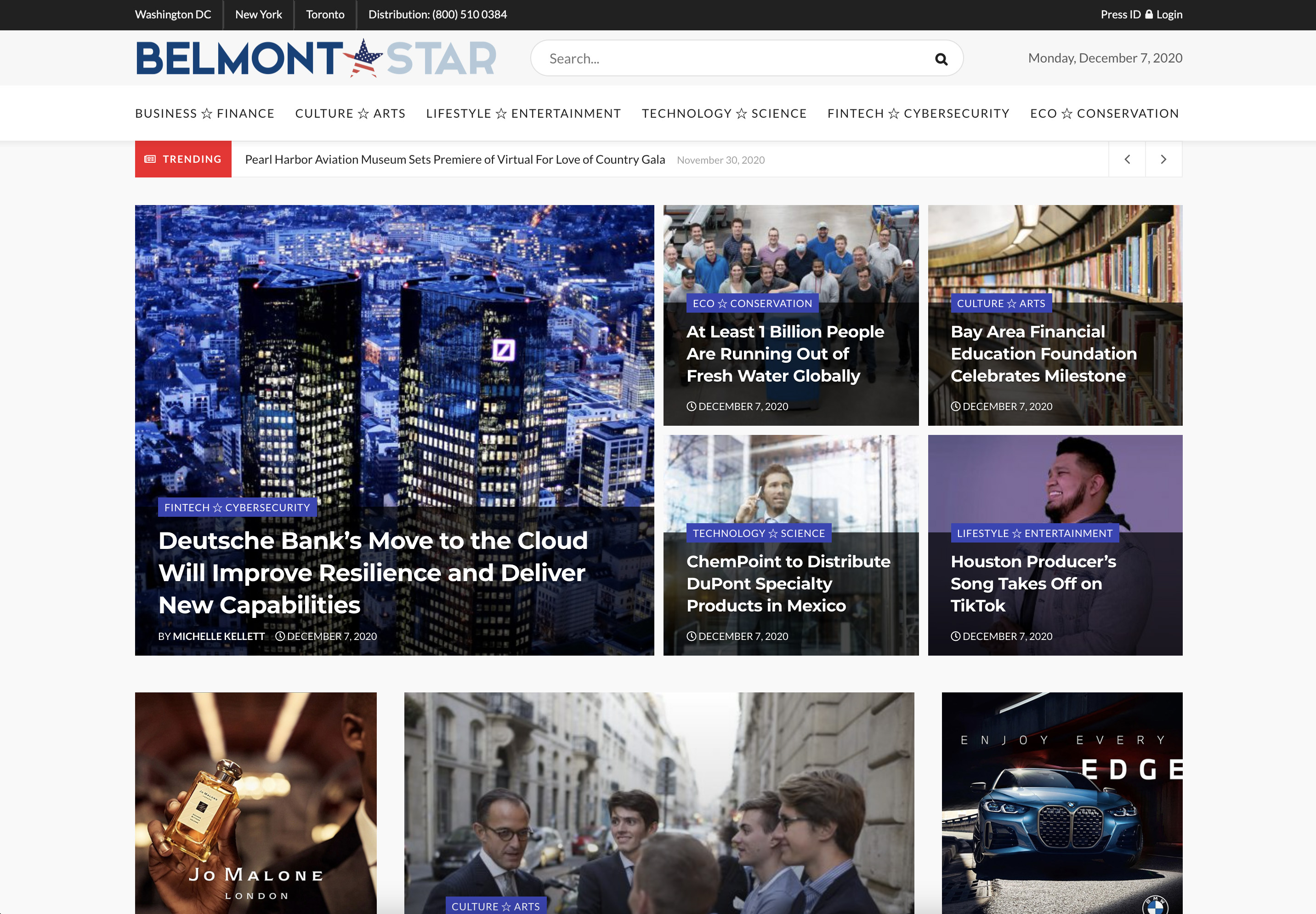 Publish interview or editorial article on BelmontStar. com