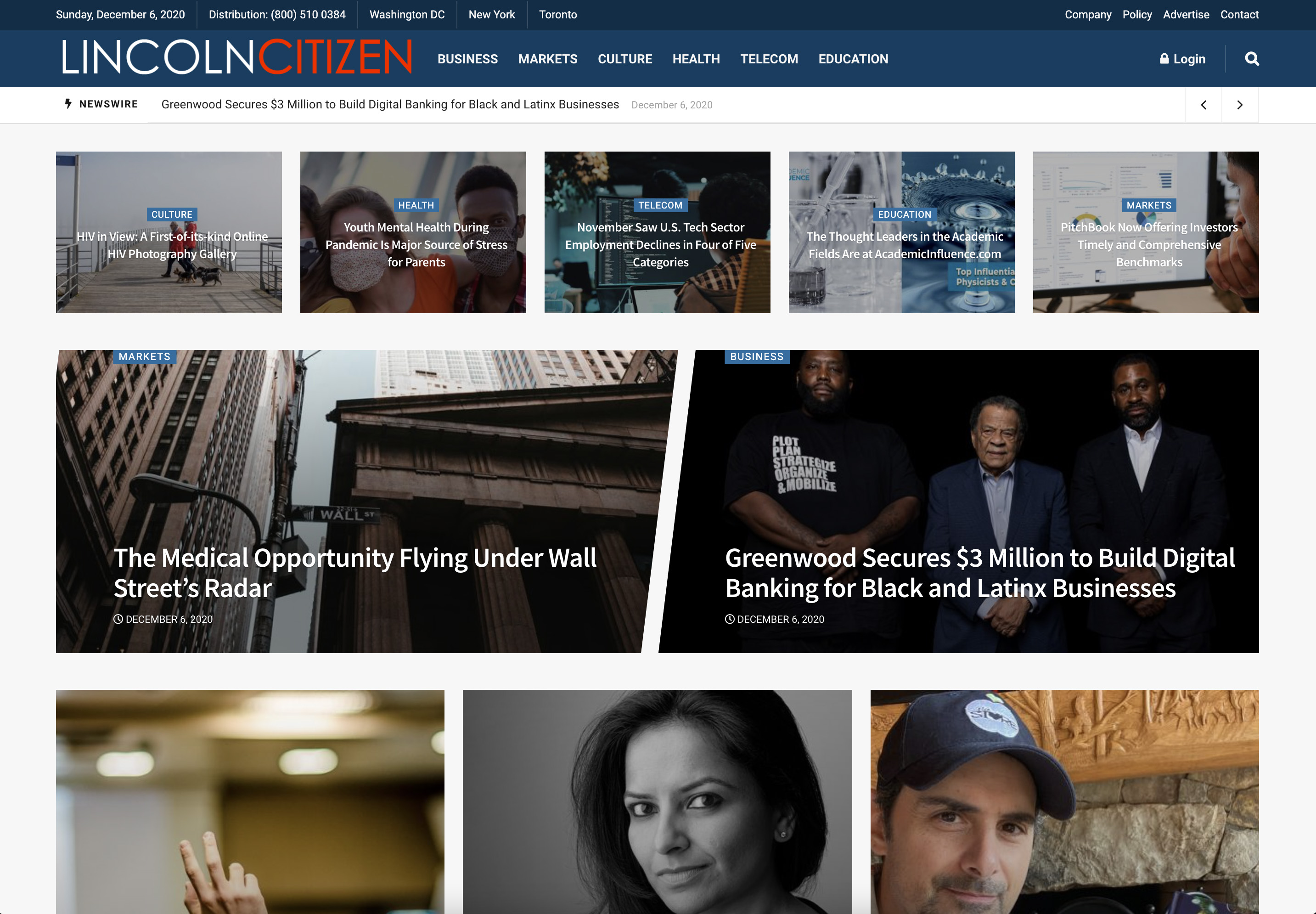 Publish interview or editorial article on LincolnCitizen. com
