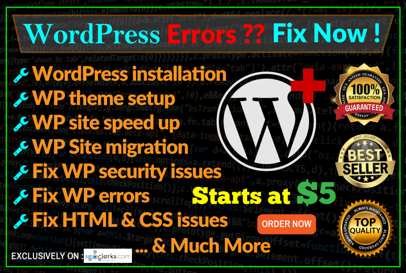 I Install Wordpress, Setup Theme And Fix Any Wp Issu...