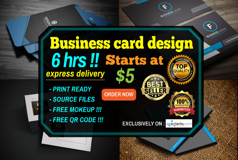 Do Design Any Kinds Of Business Card In 6 Hours