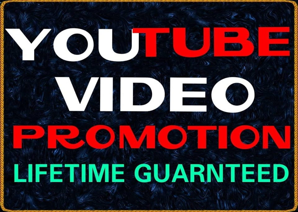 NON-DROP & HIGH QUALITY YOUTUBE PROMOTION 24 hrs Delivery time