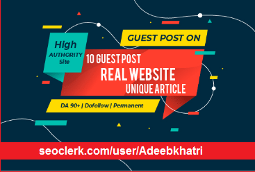 I will do 10 guest post on real authority websites