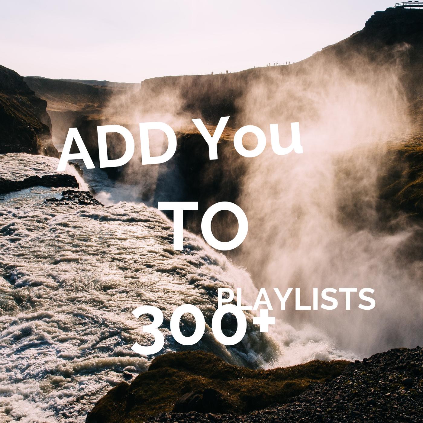 300 Collaborative Spotfy PLAYLISTS 5k Streams Campaign